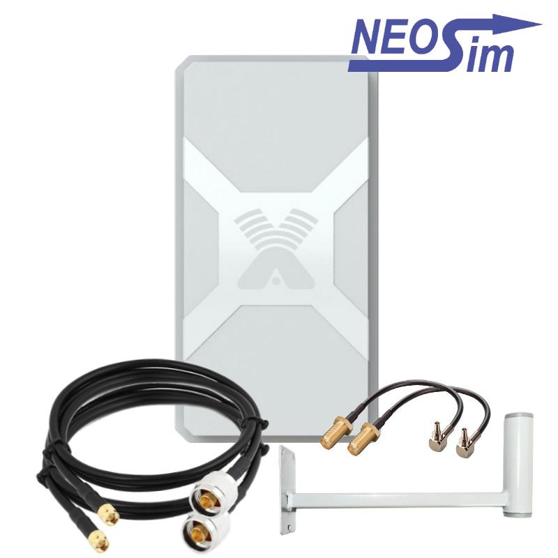 Комплект ANTEX Nitsa-5 MIMO для усиления 3G/4G (15 dBi)